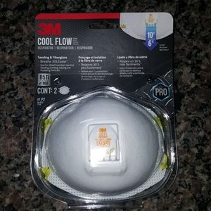 3M N95  cool flow face respirator 2 pk  cool valve